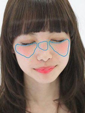 女子の憧れ♡乃木坂46白石麻衣さんのようなドーリーメイクの作り方 ... 両頬+鼻筋の上にチークを入れる
