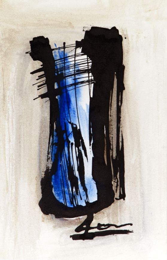 #Composition by Petros Devolis (2010) - #painting Ink and diluted #acrylic colors on aquarelle paper 13,0 x 31,9 cm (5.12 x 12.20 in)  www.facebook.com/devolisarts www.about.me/devolisarts www.twitter.com/devolisarts