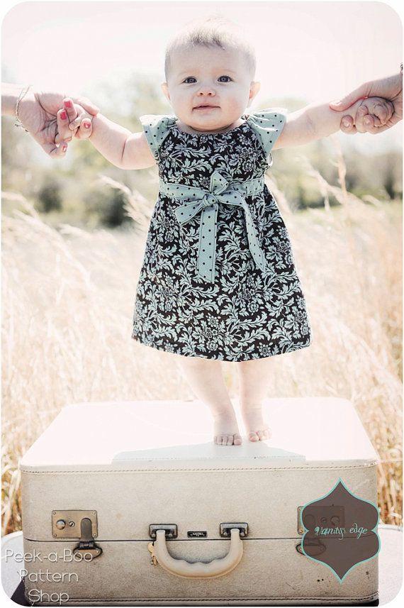 Lucy Dress: Girls Peasant Dress Pattern, Baby & Toddler Peasant Dress Pattern on Etsy, $7.95