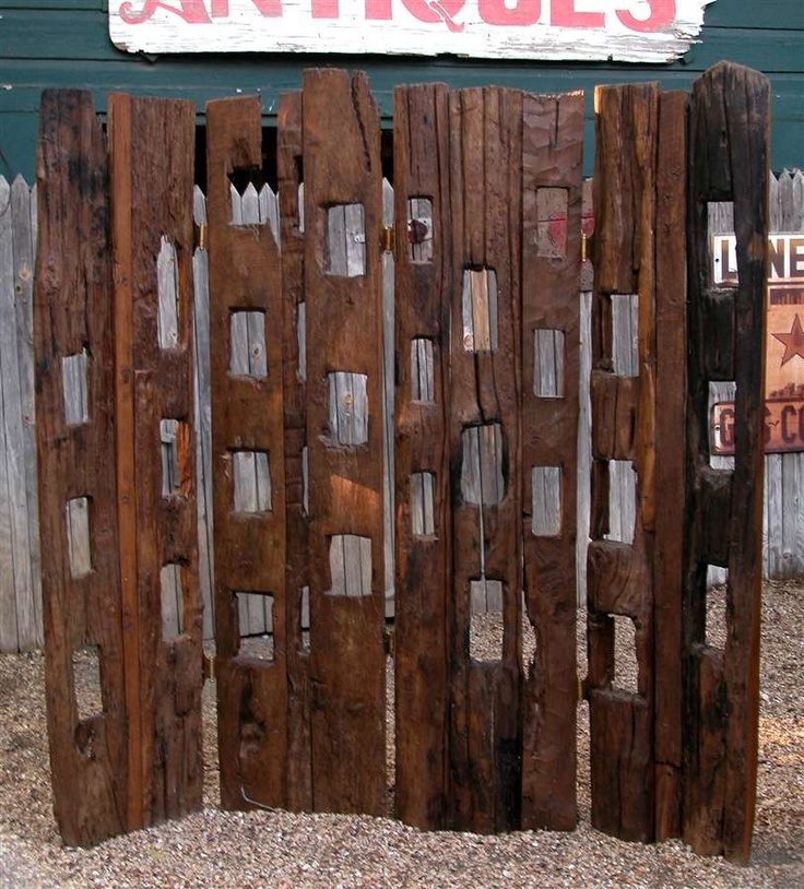... Dividers - Rustic Teak Style Room Divider from RoomDividerStore.com