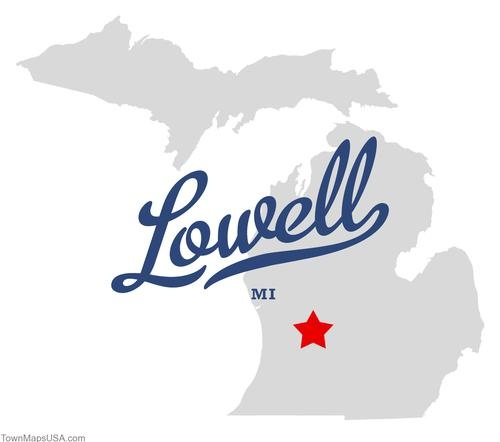 Map of Lowell Michigan MI
