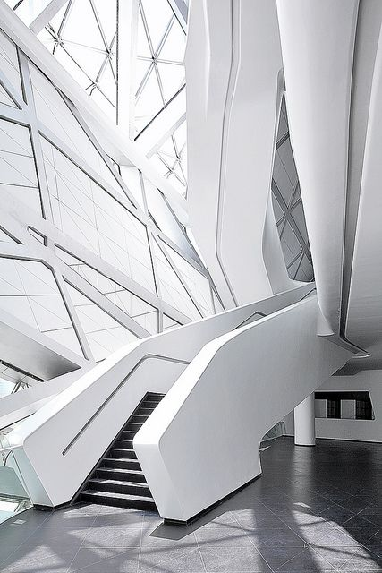 Guangzhou Opera House22 副本 by XiaZhi-Image   #white #architecture #interiors   www.notjustpowder.com