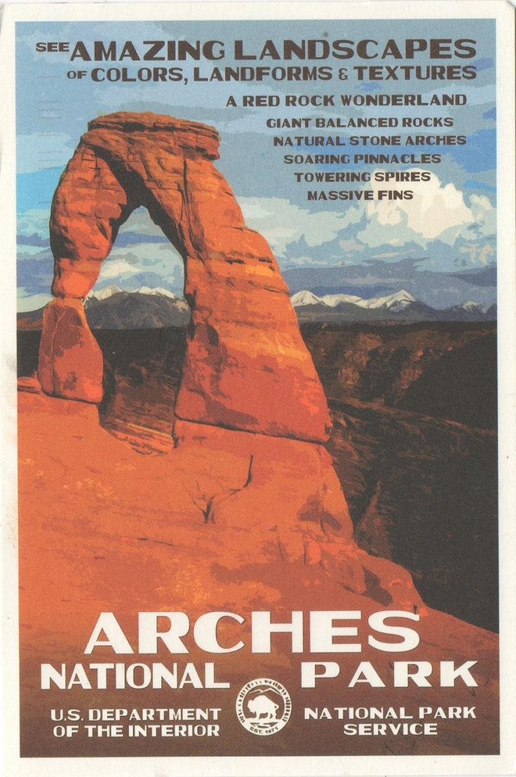 US-4895989 - Arrived: 2017.09.28   ---   Arches National Park is a US National Park in eastern Utah. The park is adjacent to the Colorado River, 6 km north of Moab, Utah. It is home to over 2,000 natural sandstone arches, including the world-famous Delicate Arch (in the card), in addition to a variety of unique geological resources and formations. It contains the highest density of natural arches in the world.