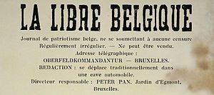 "La Libre Belgique clandestine-he treatment of Jews by the Germans led to public resistance in Belgium. In June 1942, the representative of the German Foreign Ministry in Brussels, Werner von Bargen, complained the Belgians did not exhibit ""sufficient understanding"" of Nazi racial policy. The Belgian underground newspaper La Libre Belgique called for Belgian citizens to make small gestures to show their disgust at the Nazi racial policy."