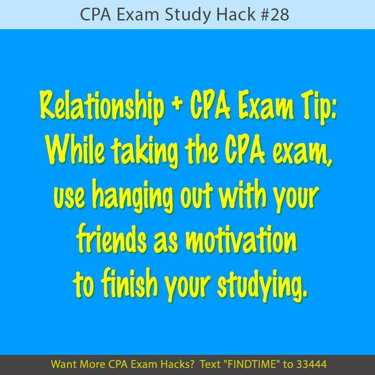 how to study for cpa exam while working