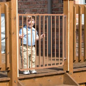 Cardinal Gates Stairway Special Outdoor Child Safety Gate, Brown