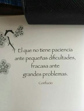 He,who has no patience while going through small difficulties, will fail when have to handle big problems. - Confucious