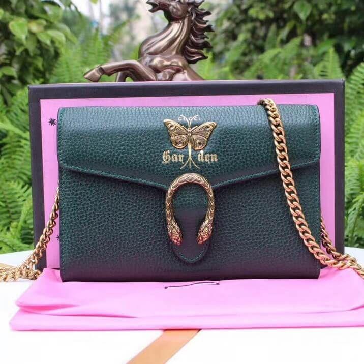 fbe4fd7970e Gucci Garden Butterfly Dionysus Mini Chain Bag 516920 Dark Green 2018