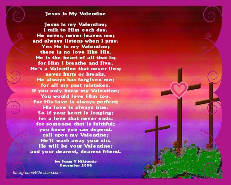 short simple valentine's day poems   Jesus Is My Valentine ...
