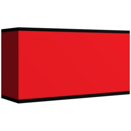 All Red Giclee Shade 8/17x8/17x10 (Spider) -