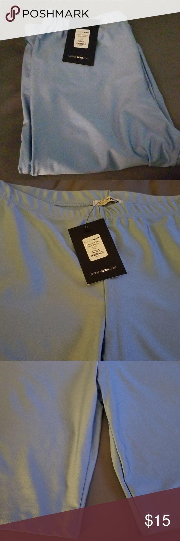 Biker shorts Womens baby blue size L biker shorts Fashion Nova Shorts Bermudas   – My Posh Closet