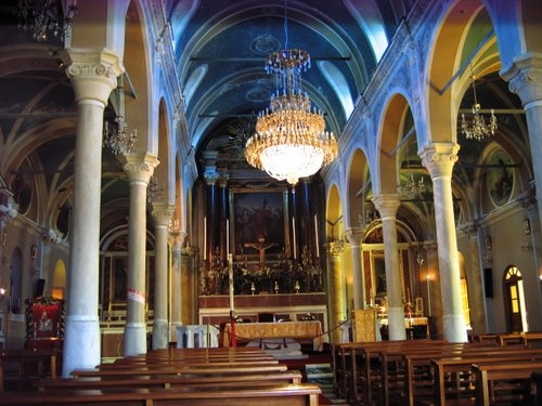incide of St. George cathedral church - Ano Syros