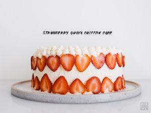 Strawberry Guava Chiffon Cake Recipe