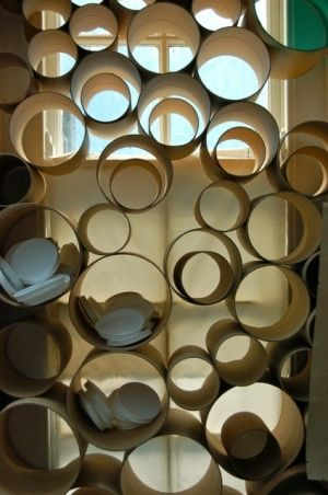 Room Divider: From toilet paper tubes? Why not. by belphegor
