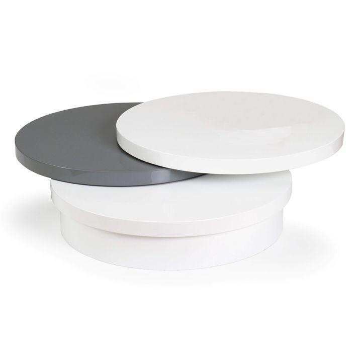 la table basse ronde blanche disco est idale pour recevoir dans votre salon votre famille ou. Black Bedroom Furniture Sets. Home Design Ideas