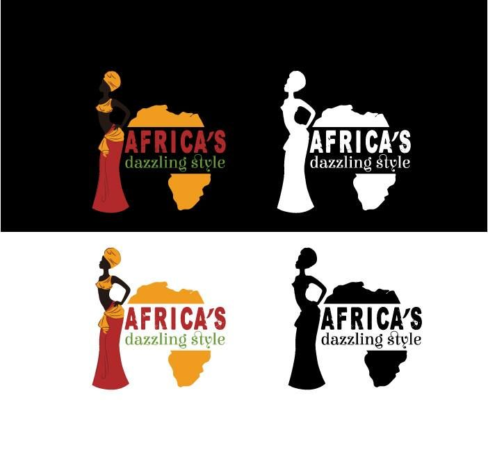 Africa's Dazzling Style fashion boutique online shop  - Logo design