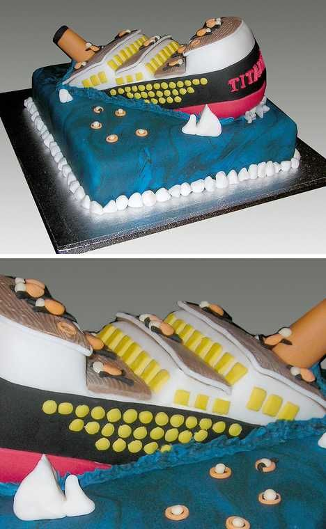 These 13 creative Titanic cakes may not be in the best of taste but judging by the amount of delicious ice- er, frosting, we'll bet they go down easy!