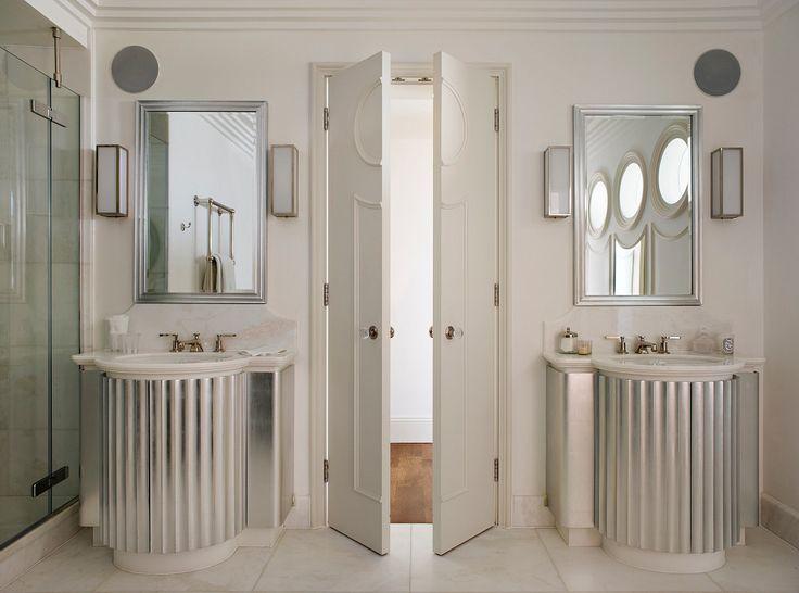 Master Bathroom Art Deco Apartment In Kensington By Justin Van Breda