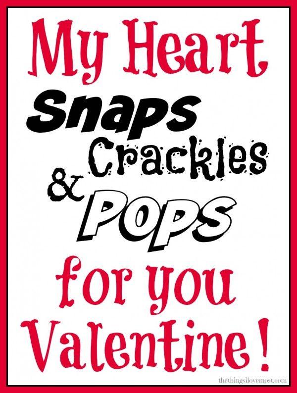 snap crackle pops Valentine!