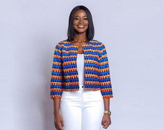 Blazer imprimé africain, vêtements africain, blazer Ankara, vêtements Ankara