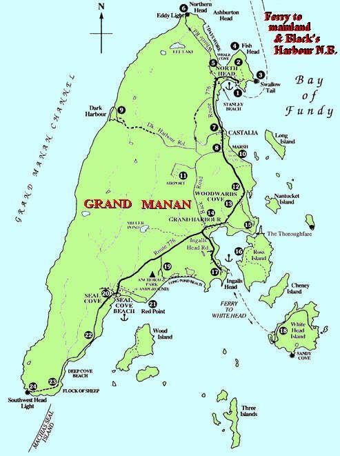 Map Of Grand Manan Island