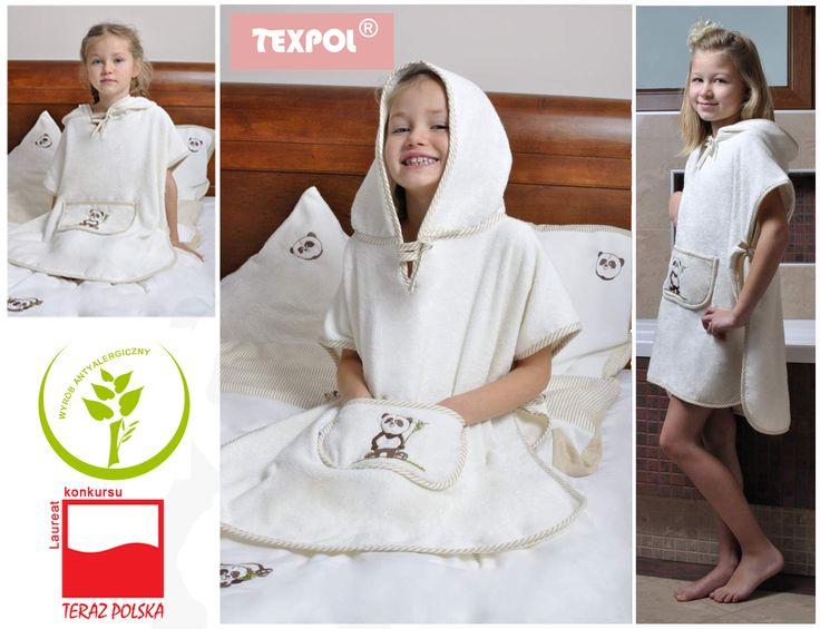 Texpol Kolekcja Happy Panda Bambusowe Poncho Kąpielowe r.116 20396 - Asplaneta.pl