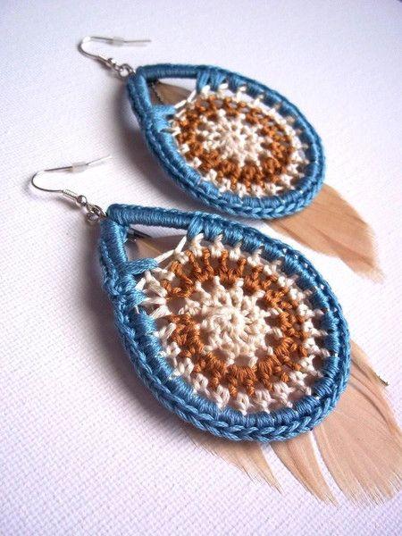 Crochet Earrings... These actually make me want to wear earrings again!