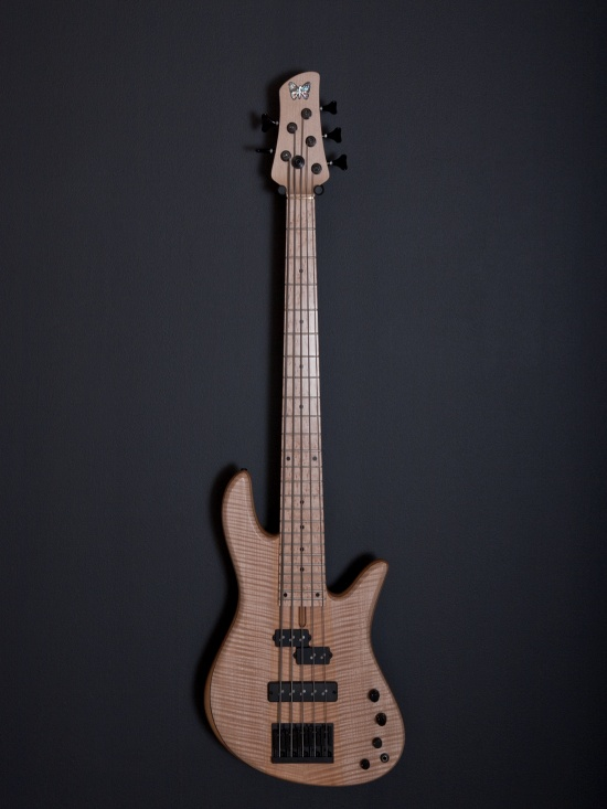 FODERA FLAME MAPLE EMPEROR 5 BOLT-ON