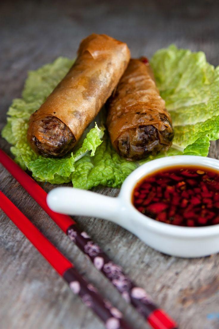 Gourmetmorsan: Vårrullar med färsfyllning