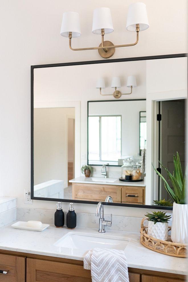 Bathroom Mirror Modern Farmhouse Bathroom Mirror With Thin Black