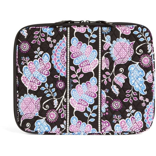 Vera Bradley Laptop Sleeve in Alpine Floral ($38) ❤ liked on Polyvore featuring accessories, tech accessories, alpine floral, tech, vera bradley, padded laptop case, laptop case, vera bradley laptop case and laptop sleeve cases