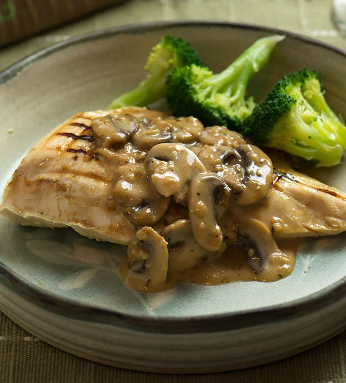 Sous Vide Chicken with Cream and Mushroom Sauce #chickenrecipes #sousvide recipes