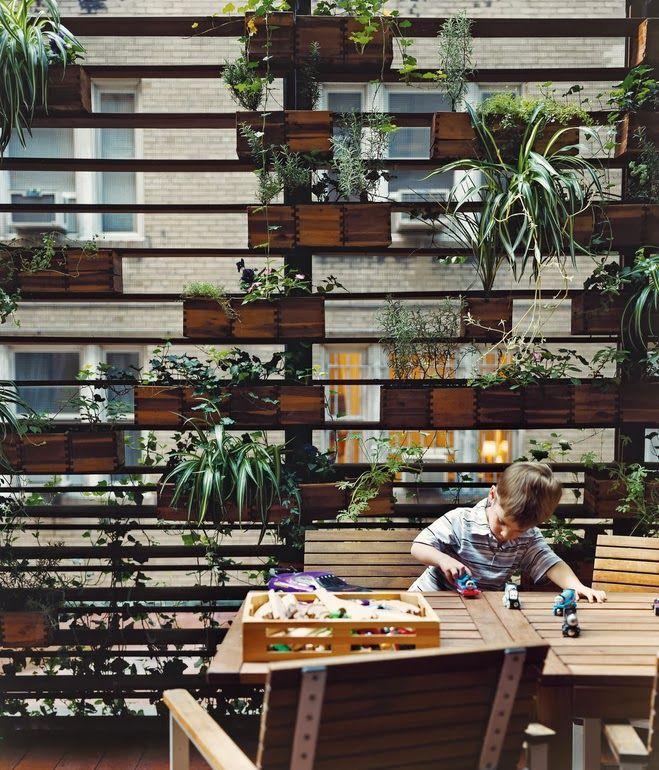 5 idéias de Jardins Verticais