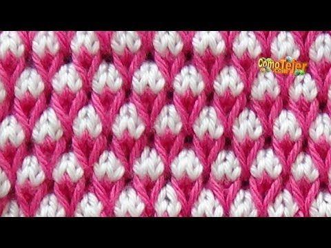 Como tricotar TURCO em CORES - 2 agulhas (495) - YouTube