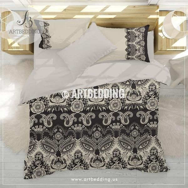 Ethno Bohemian Bedding In Black And