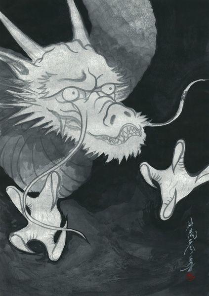 龍図(俵屋宗達「雲龍図屏風」参考) by 神流零穿 | CREATORS BANK http://creatorsbank.com/reisen/works/276735