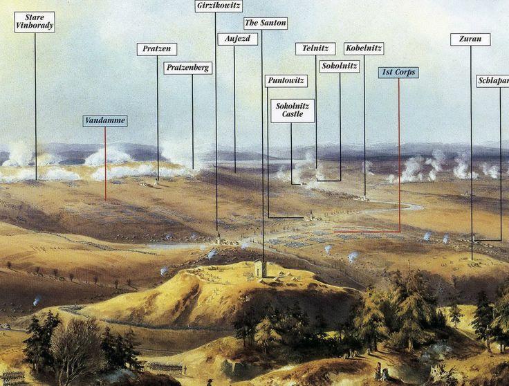 L'area della battaglia di Austerlitz | Cartine, campi di ...