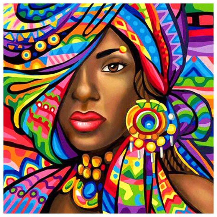 Linda mulher africana   – afro chic
