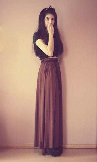 love the long skirt look