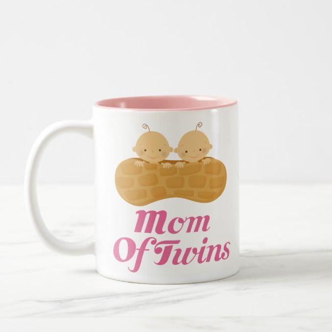 Mumma Of Twins! Printed Mug Pink