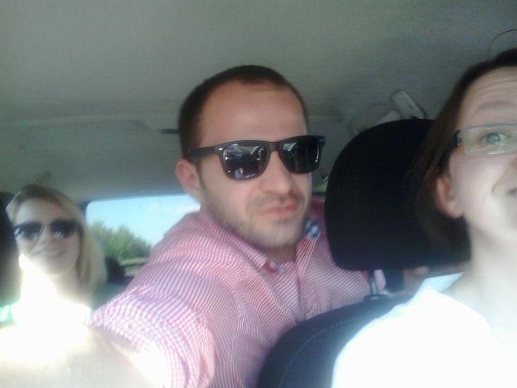Błażej, Ania i Karolina w drodze na zjazd. #zjazdSocjomaniakow #AkademiaSocjomanii