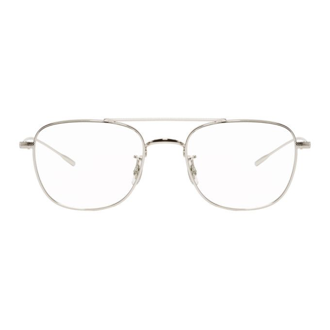 3e52bbcb63 OLIVER PEOPLES Silver Kress Glasses.  oliverpeoples