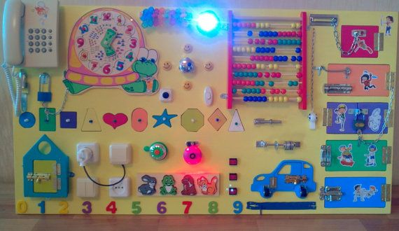 Busy Board 35 ELEMENTS Activity Board Sensory by BusyBoardOlga