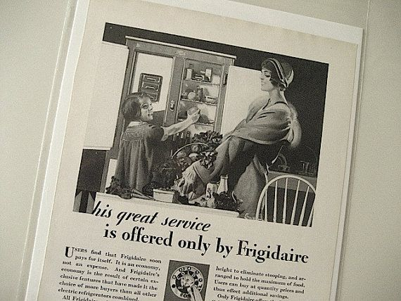 1929 Frigidaire Ad / Great Service Print Ad / Collectible /