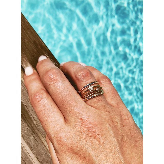 Mix and match the stackers #imaginjewels #rings #stackable #colors #summer