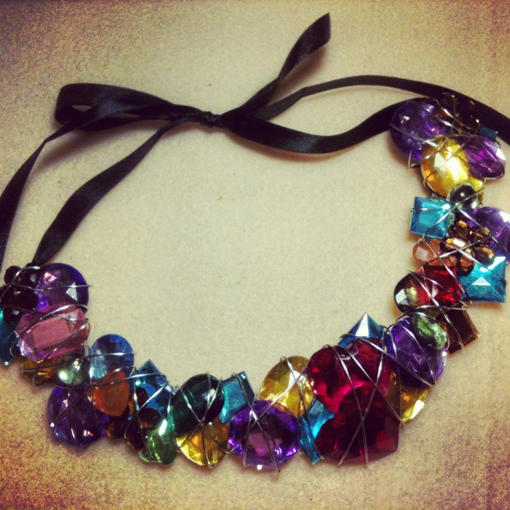 Summer statement necklace #pretty #jewellery #handmade #gorgeous #girly #gems #diyinspired