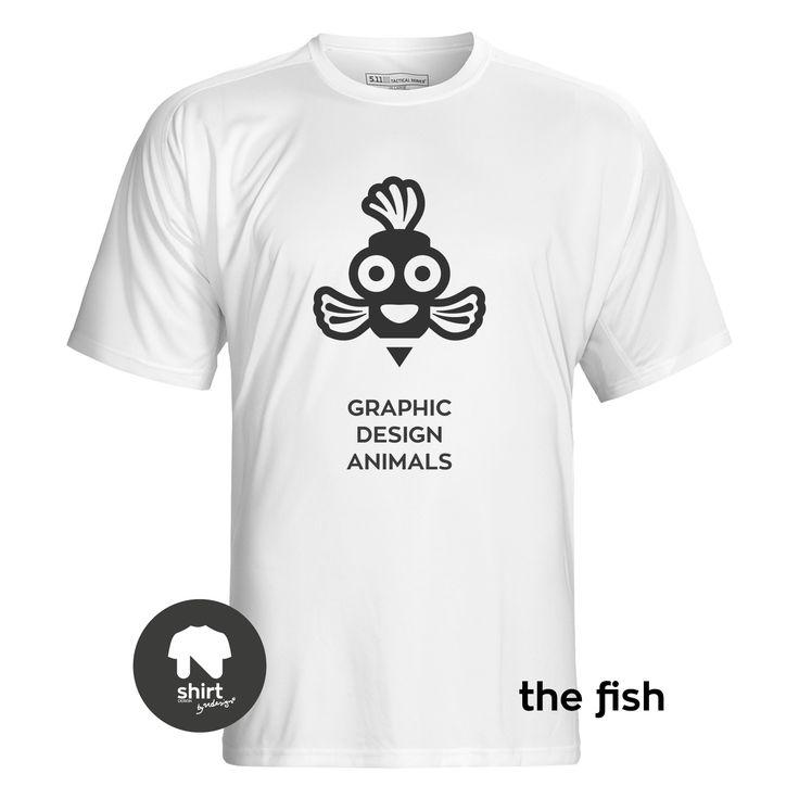Graphic Design Animals T-Shirt Series, The Fish #T-shirt #design #graphic_design by George Nikolaidis