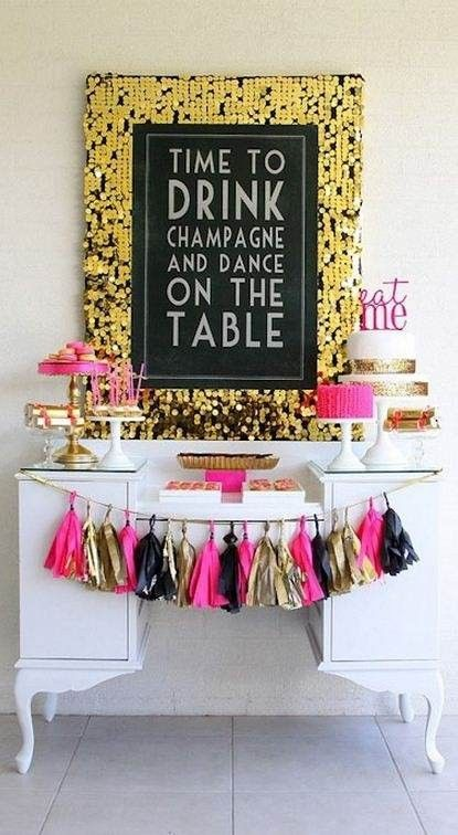 Lovely Sign & Spare Shoe idea ~ Time to drink champagne and dance on the table! #LushPromHair