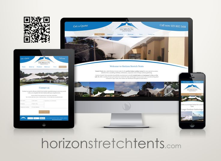 The new online home of Horizon Stretch Tents.  #webdesign #tents #events #marquees #mobile