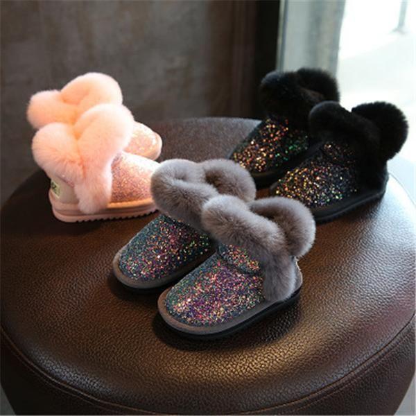 e11827bb89 Sequined Plush Snow Boots   Cottoncastles.com Luxury Kids   Kid ...